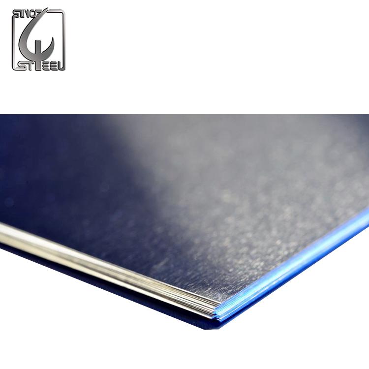 2B superficie láminas de acero inoxidable